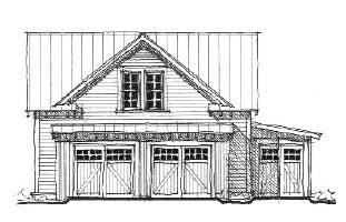 Historic 2 Car Garage Plan 73758 Elevation