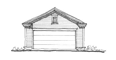 Historic Elevation of Plan 73759