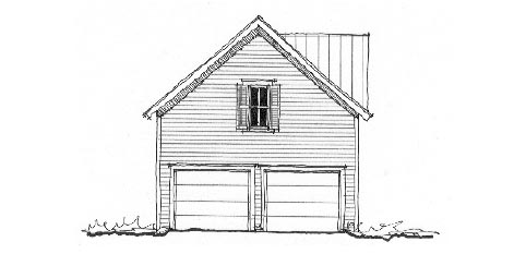 Historic Garage Plan 73760 Elevation