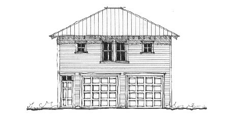 Historic Garage Plan 73761 Elevation