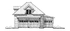Historic 3 Car Garage Apartment Plan 73764 with 1 Beds, 1 Baths Elevation