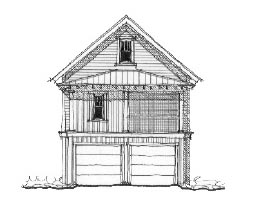 Historic Garage Plan 73767 Elevation
