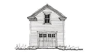 Historic Garage Plan 73769 Elevation