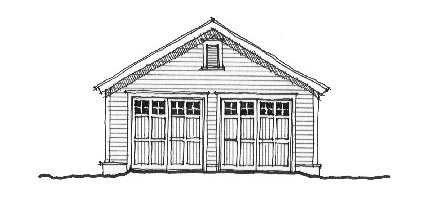 Historic Garage Plan 73770 Elevation