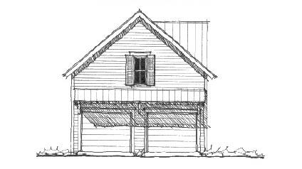 Historic Garage Plan 73772 Elevation