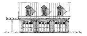 Historic Garage Plan 73773 Elevation
