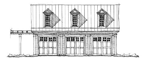 Historic Garage Plan 73773 Elevation
