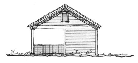 Historic Garage Plan 73775 Elevation