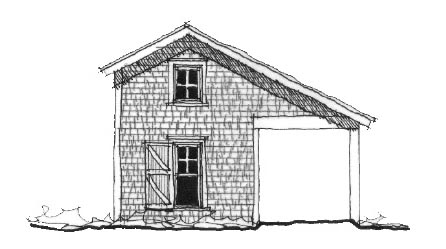 Historic Garage Plan 73776 Elevation