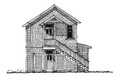 Historic Garage Plan 73778 Elevation