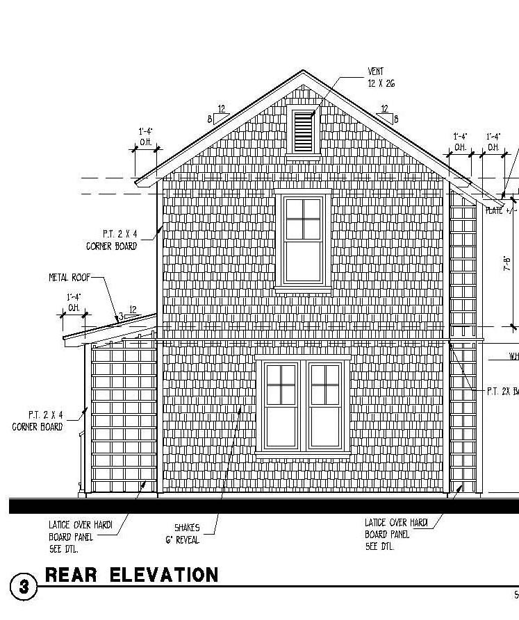 Historic Garage Plan 73778 Rear Elevation