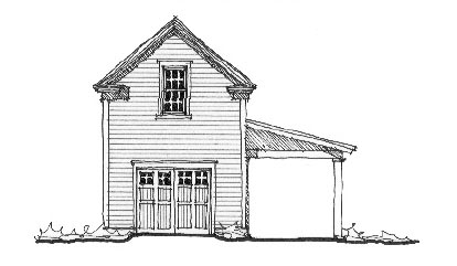 Historic 2 Car Garage Plan 73779 with 1 Beds, 1 Baths Elevation