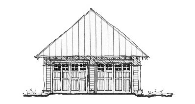 Historic Garage Plan 73780 Elevation