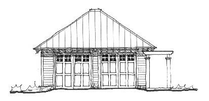 Historic Garage Plan 73782 Elevation