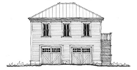 Historic Garage Plan 73783 Elevation