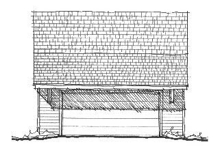 Historic Garage Plan 73787 Elevation