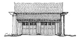 Historic 4 Car Garage Plan 73791 Elevation
