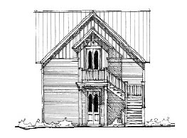Historic House Plan 73793 Elevation
