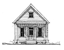 Historic House Plan 73797 with 1 Beds, 1 Baths Elevation