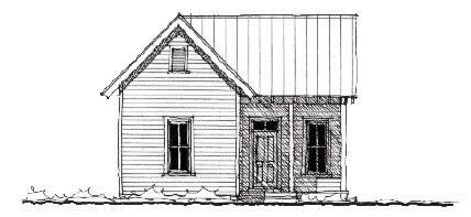 Cabin Country Farmhouse Historic House Plan 73799 Elevation