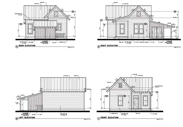 Cabin Country Farmhouse Historic House Plan 73799 Rear Elevation