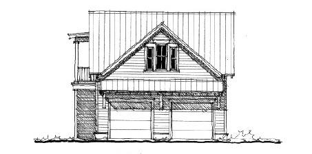 Historic Garage Plan 73800 Elevation