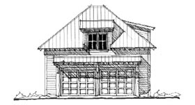 Garage Plan 73801 | Historic Style Plan with 471 Sq Ft, 1 Bedrooms, 1 Bathrooms, 2 Car Garage Elevation