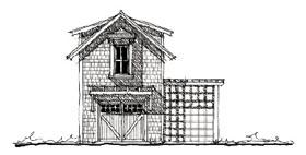 Historic Garage Plan 73803 Elevation