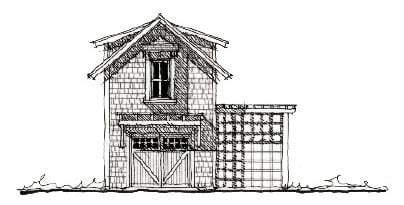 Historic Garage Plan 73803 Elevation