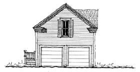 Historic Garage Plan 73805 Elevation