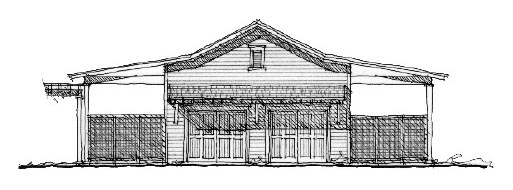 Historic 4 Car Garage Plan 73807 Elevation