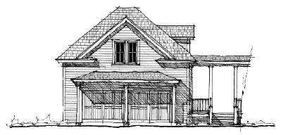 Historic Garage Plan 73809 Elevation