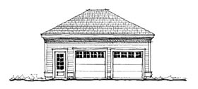 Garage Plan 73813 | Historic Style Plan, 2 Car Garage Elevation