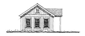 House Plan 73816 | Historic Style Plan with 501 Sq Ft, 1 Bedrooms, 1 Bathrooms Elevation