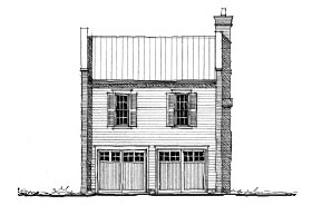 Garage Plan 73818 | Historic Style Plan with 822 Sq Ft, 1 Bedrooms, 1 Bathrooms, 3 Car Garage Elevation