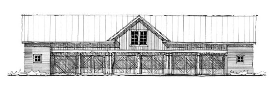Historic Garage Plan 73820 Elevation