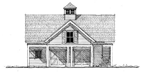 Historic Garage Plan 73823 Elevation