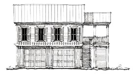 Historic 2 Car Garage Apartment Plan 73827 with 2 Beds, 1 Baths Elevation