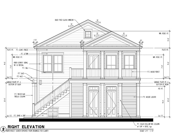 Colonial, Historic, Traditional 2 Car Garage Apartment Plan 73827 with 2 Beds, 1 Baths Picture 2