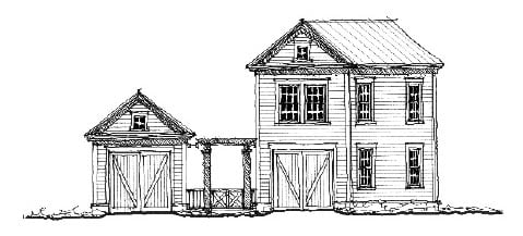 Historic 2 Car Garage Apartment Plan 73829 with 1 Beds, 1 Baths Elevation