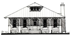 Country Historic House Plan 73831 Elevation