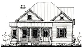Country Historic House Plan 73832 Elevation
