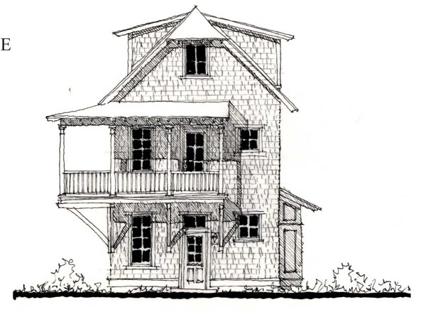 Historic Elevation of Plan 73833