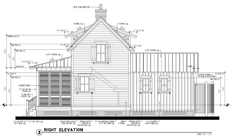 Country, Historic House Plan 73834 with 1 Beds, 2 Baths Picture 2