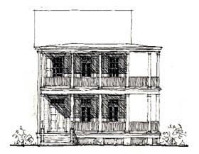 Historic Southern House Plan 73835 Elevation