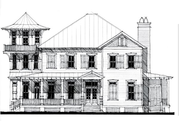 Historic, Victorian House Plan 73837 with 2 Beds, 3 Baths Front Elevation