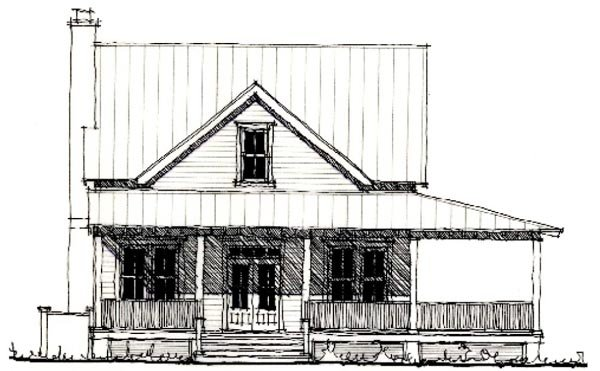 Country Historic House Plan 73838 Elevation