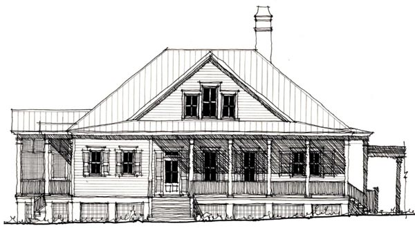 Country , Historic House Plan 73840 with 3 Beds, 3 Baths Elevation