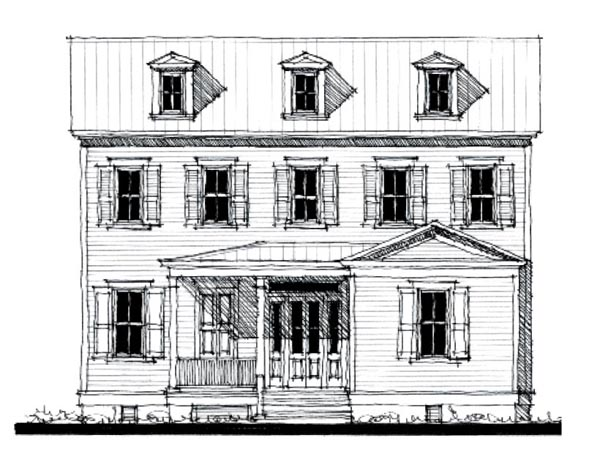 Historic, Southern House Plan 73841 with 4 Beds, 3 Baths Elevation