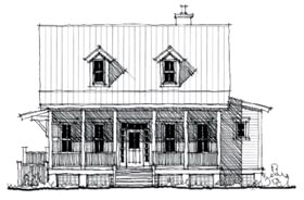 Country , Historic House Plan 73844 with 4 Beds, 3 Baths Elevation